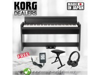 KORG LP-380 88 Key Digital Piano Rosewood Black with Headphone and Bench (LP380)