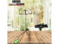 HAMILTON KB301F-BK THREE SECTION MUSIC STAND