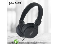 GORSUN GS-778 Fordable Stereo Headphone 3.5mm Black