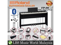 Roland FP-30 Digital Piano Black Complete Package Electric Keyboard (FP30 / FP 30)