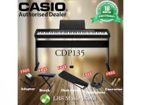 CASIO CDP135 88 KEY DIGITAL KEYBOARD BUNDLE (CDP-135 / CDP 135)