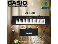 CASIO CTK-240 49-Keys Standard Keyboard With stand (CTK 240 CTK240)