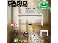 CASIO PX160 GD CHAMPAGNE WHITE DIGITAL PIANO (PX 160 / PX-160)
