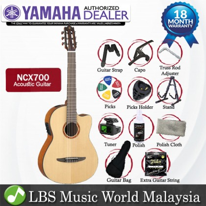 Yamaha NCX700 39'' CG Cutaway Solid Spruce Acoustic Electric Guitar Natural (NCX 700)