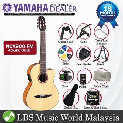 Yamaha NCX900FM 39'' CG Cutaway Solid Spruce Acoustic Electric Guitar With Pickup (NCX 900FM)