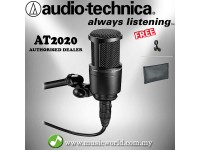 Audio-Technica AT2020 Cardioid Condenser Microphone (AT 2020)
