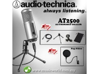 Audio Technica ATR2500-USB Cardioid Condenser USB Microphone with Pop Filter (ATR2500 USB)