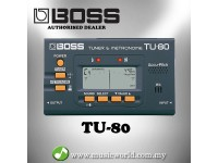 BOSS TU-80 All Instrument Tuner / Metronome Black (TU80 / TU 80)