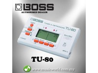 BOSS TU-80 All Instrument Tuner / Metronome Silver(TU80 / TU 80)