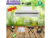 YAMAHA P-125 DIGITAL PIANO COMPLETE BUNDLE WHITE (P125 / P 125)