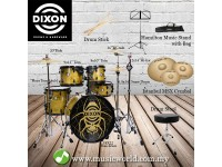 DIXON DRUM SET SPIDER GOLD WIDOW FUSE SERIES DRUM KIT