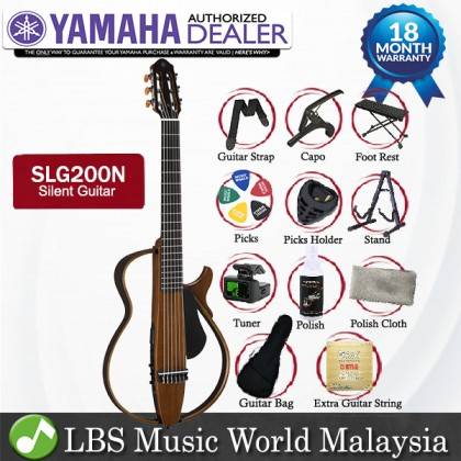 Yamaha SLG200N Silent Classical Guitar Nylon String With Pickup Natural (SLG200 SLG 200N)