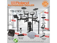 Roland TD-17KV Digital Drum V Drum Bundle With Amp (TD 17KV / TD17KV)