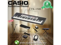 CASIO CTK-1500 Portable Keyboard Electric Piano Complete Bundle (CTK1500 / CTK 1500)
