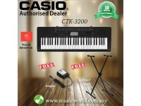 CASIO CTK-3200 Portable Keyboard Electric Piano With Stand (CTK3200 / CTK 3200)