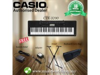 CASIO CTK-3200 Portable Keyboard Electric Piano With Stand Pedal Bag (CTK3200 / CTK 3200)