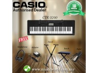 CASIO CTK-3200 Portable Keyboard Electric Piano With Stand Complete Bundle (CTK3200 / CTK 3200)