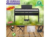YAMAHA P-125 DIGITAL PIANO COMPLETE BUNDLE BLACK (P125 / P 125)