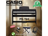 CASIO PX-760 Privia 88 Key Digital Piano Black (PX760 / PX 760)
