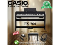 CASIO PX-760 Privia 88 Key Digital Piano Black (PX760 / PX 760)