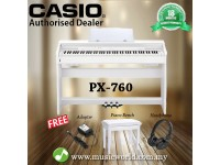 CASIO PX-760 Privia 88 Key Digital Piano White (PX760 / PX 760)
