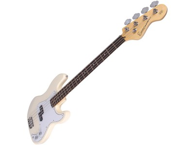 Encore E4VW Bass Guitar Vintage White Electric Bass Guitar
