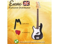 Encore LH-E4BLK Left Handed Bass Guitar Black Glossy Blaster Electric Bass Guitar