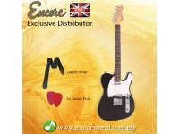 ENCORE E2BLK Electric Guitar Gloss Black Electric Guitar