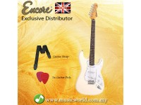ENCORE E6VW Electric Guitar Vintage White Full Size Electric Guitar