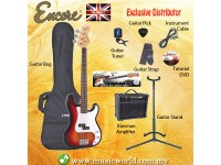 ENCORE EBP-E4SB Sunburst Bass Guitar Package Starter Pack Electric Bass Guitar Bundle