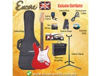 ENCORE EBP-E6RED RED Electric Guitar Package Starter Pack Electric Guitar Bundle