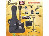 ENCORE EBP-E69BLK Black Electric Guitar Package Starter Pack Electric Guitar Bundle