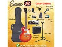 ENCORE EBP-E99CSB CHERRY SUNBURST Electric Guitar Package Starter Pack Electric Guitar Bundle