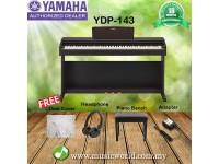 Yamaha Arius YDP-143 Rosewood 88 Key Digital Piano Complete Bundle (YDP143 / YDP 143)