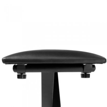 Korg JS-SB100 Keyboard Small X Style Bench Padded Seat Steel Construction Black (JSSB100 JS SB100)