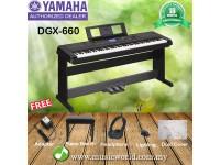 Yamaha DGX-660 Digital Piano Black Package (DGX660 / DGX 660)