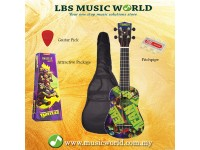 JHS TMUK2 Teenage Mutant Ninja Turtles Ukulele Package With Bag Pitchpipe Plectrum