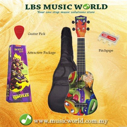 JHS TMUK1 Teenage Mutant Ninja Turtles Ukulele Package With Bag Pitchpipe Plectrum Preview