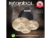 "ISTANBUL AGOP Cymbals Xist Set 14"" Hi-Hats 16"" Crash 20"" Ride Cymbal Set With Case"