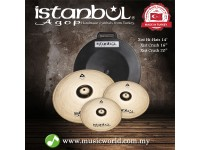 "ISTANBUL AGOP Cymbals Xist Brilliant Set 14"" Hi-Hats 16"" Crash 20"" Ride Cymbal Set With Case"