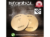"ISTANBUL AGOP Cymbals MSX 18"" Marching Cymbal With Holder"