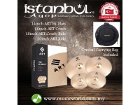 "ISTANBUL AGOP Cymbals ART 4 Piece Set 14"" Hi-Hats 16"" 18"" Crash 20"" Ride Set With Bag"