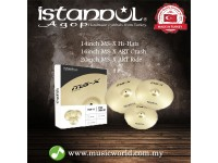 "ISTANBUL AGOP Cymbals MS-X 3 Piece Set 14"" Hi-Hats 16"" Crash 20"" Ride Set"