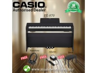 Casio PX-870 88 Keys Digital Piano Black with Bench and Headphone (PX 870 / PX870)