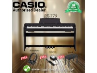 CASIO PX-770 88 Key Digital Piano Black with Bench and Headphone (PX770 / PX 770)