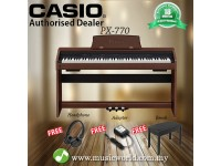 CASIO PX-770 88 Key Digital Piano Brown with Bench and Headphone (PX770 / PX 770)