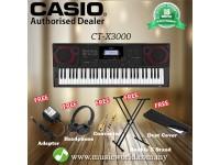 CASIO CT-X3000 61 Key Portable Keyboard Basic Bundle (CTX3000 CTX 3000)