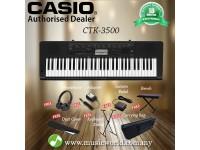 CASIO CTK-3500 61 Key Portable Keyboard Premium Bundle (CTK3500 / CTK 3500)