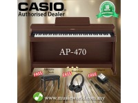 CASIO AP-470 88 Key Celviano Digital Piano Brown With Bench and Headphone (AP470 AP 470)