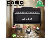 CASIO AP-470 88 Key Celviano Digital Piano Black With Bench and Headphone (AP470 AP 470)